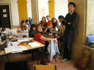 O grupo com o orientador Dimitris Papanikolaou.