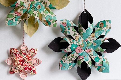 adornos-de-navidad-estrellas-de-papel-fáciles