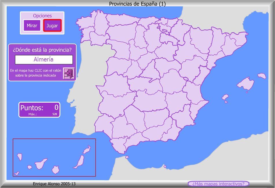 Resultado de imagen de mapas interactivos de españa provincias