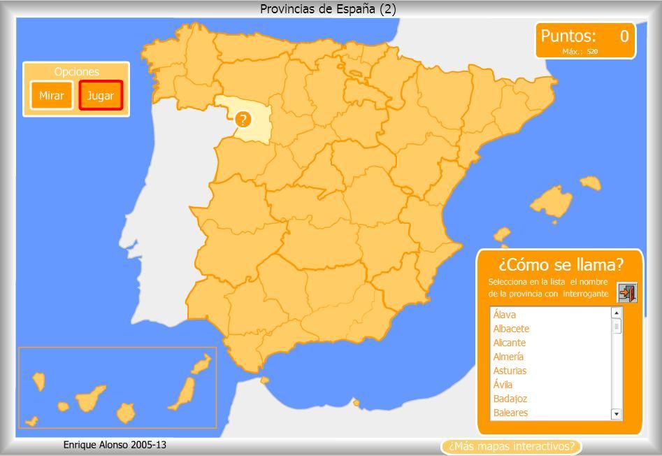 Resultado de imagen de mapas interactivos de españa