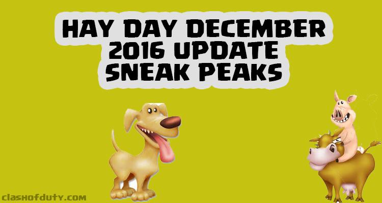 Hay Day December Update 2016 Sneak Peaks Collection