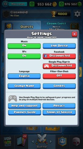 Login to Clash Royale Mod