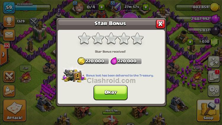 Clash of Clans Star Bonus, Clash of Clans Star Bonus Farming, How to farm using Star Bonus, COC Star Bonus Loot