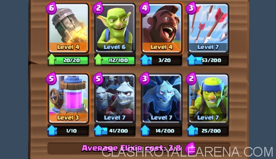 Get to Arena 7 with this Arena 6 No-Epic F2P Deck