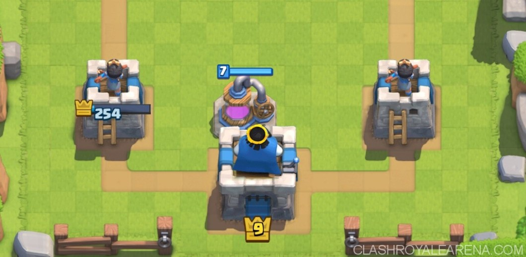Elixir Collector placement in Clash Royale