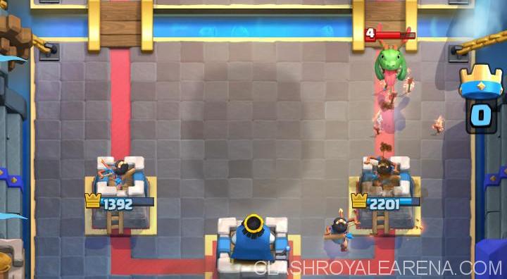 Princess defending behind the Tower