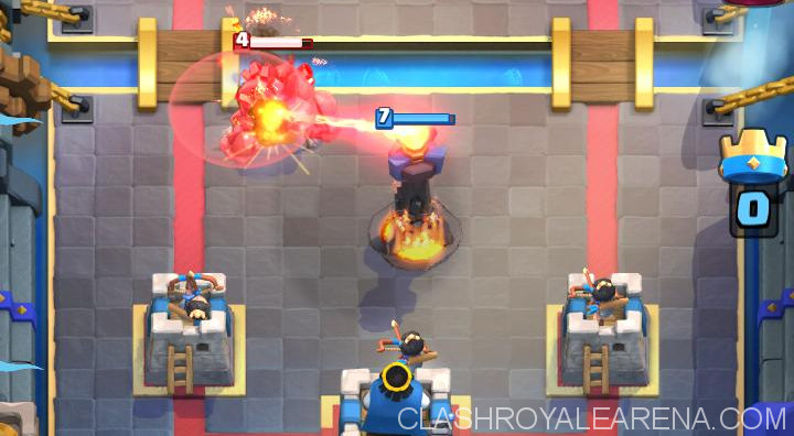princess defending in front of King's Tower