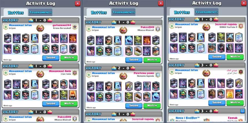 modern royale battle logs