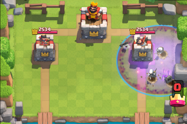 Screenshot Graveyard in Action-Clash-Royale-Combo