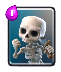 Skeletons-Card-Clash-Royale-Kingdom-common card