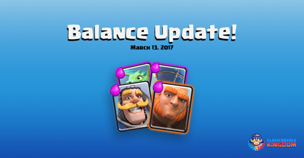 Balance Changes Live! (13 March, 2017)