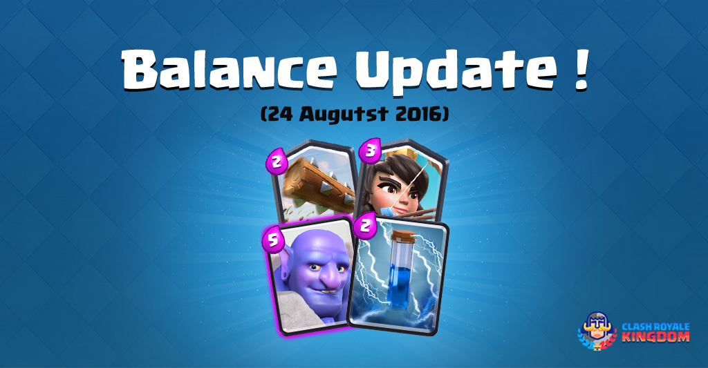 Balance Changes Live! (24 August, 2016)