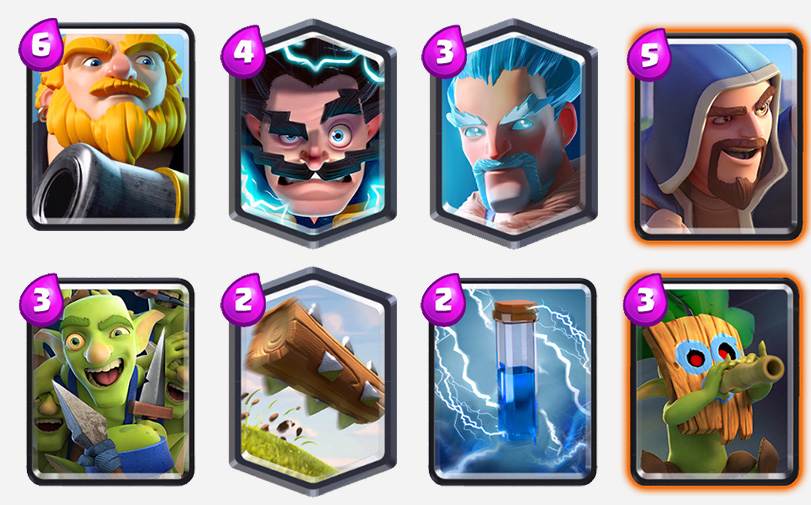 Royal-Giant-with-the-3-Wizards-Combo-Deck