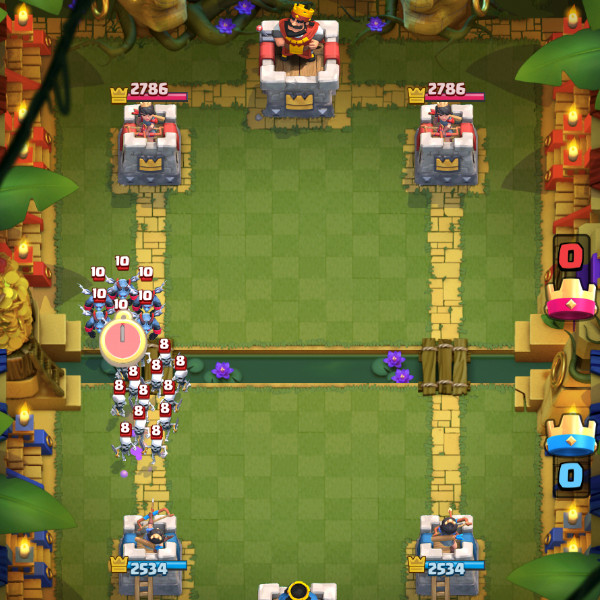 Army-and-Siege-Horde-Skeleton-Army-in-Mortar-Deck-clash-royale-kingdom
