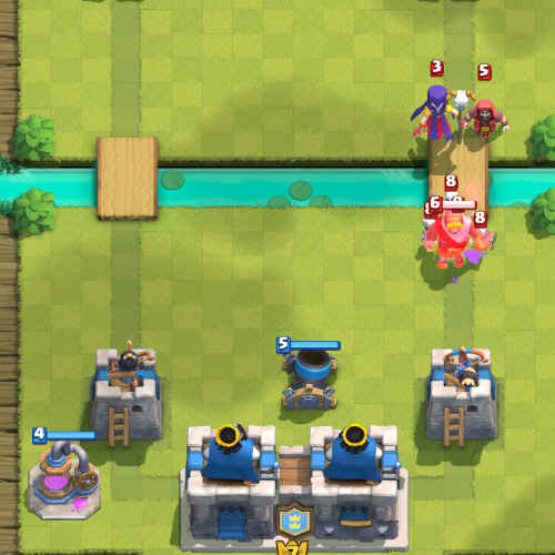 elixir collector clash royale-place-behind-tower