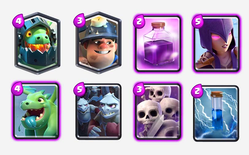 inferno dragon miner deck