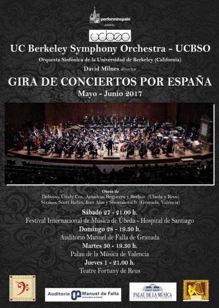 Perform in Spain presenta la Gira española de la UC Berkeley Symphony Orchestra