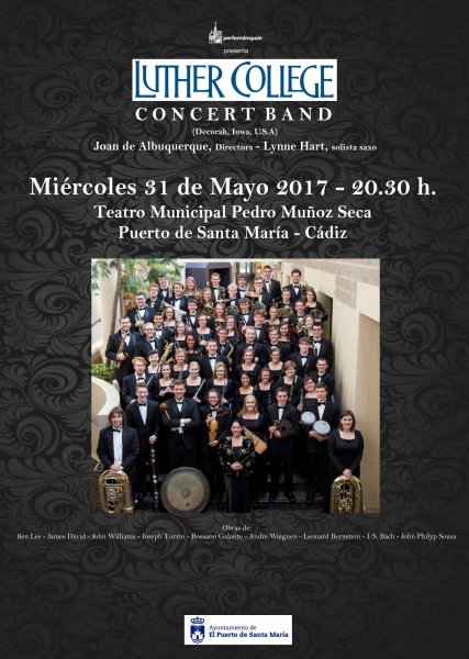 Concierto de la Luther Collegue Concert Band en El Puerto de Santa Maria