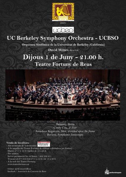 Concierto en Reus de la Orquesta Sinfonica de la Universidad de Berkeley