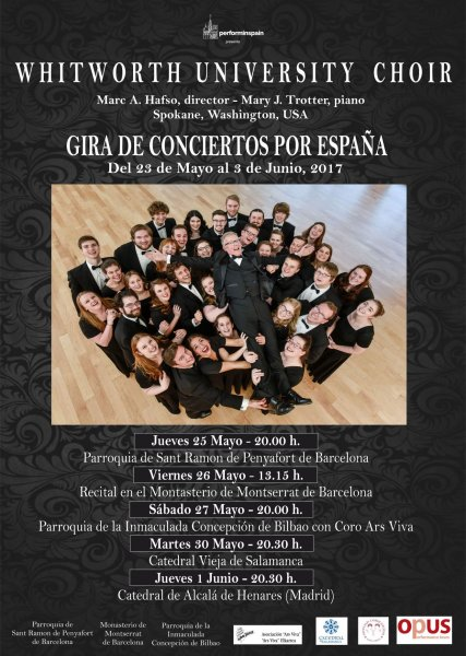 Gira de conciertos en España del Whitworth University Choir