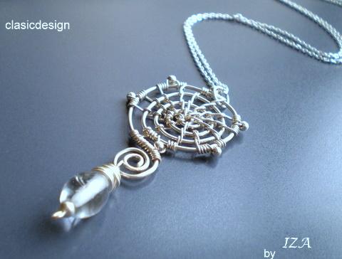 colier -argint-cristal