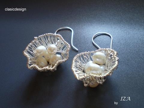 cercei perle-bijuterii pietre semipretioase-iza clasicdesign