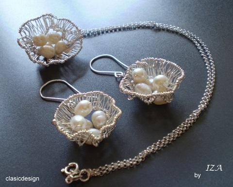 set bijuterii-bijuterii mireasa-bijuterii cu perle naturale-clasicdesign