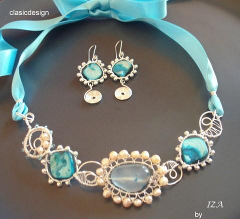 bijuterii perle-sidef-bleu