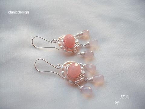 cercei perle -jad