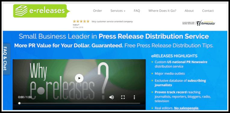 PR distribution eReleases