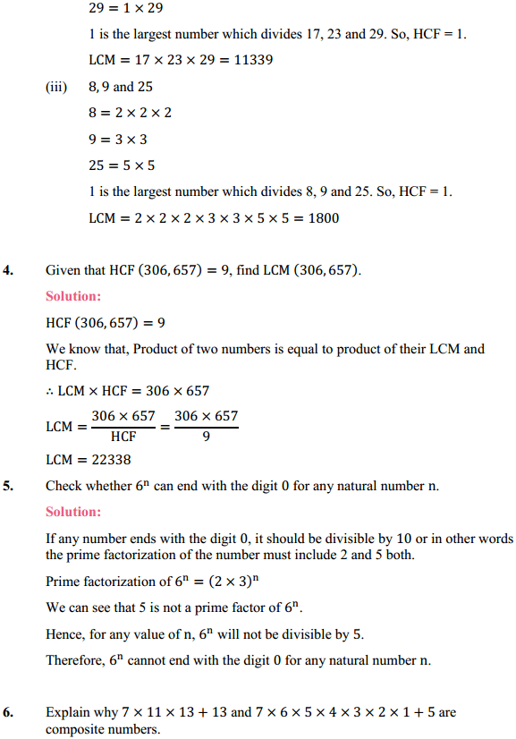 NCERT Solutions for Class 10 Maths Chapter 1 Real Numbers Ex 1.2 4