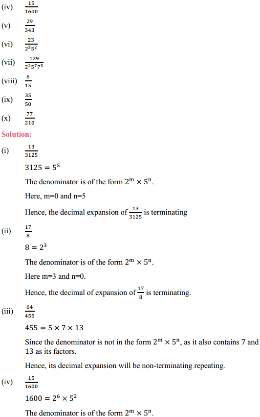 NCERT Solutions for Class 10 Maths Chapter 1 Real Numbers Ex 1.4 2