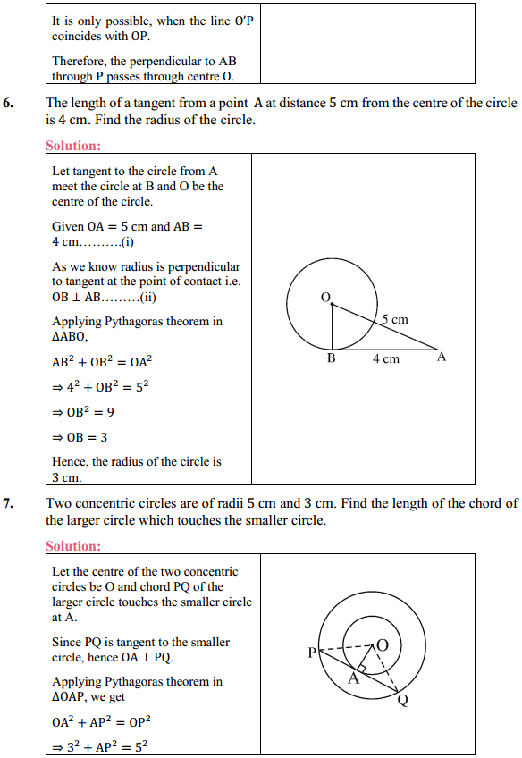 NCERT Solutions for Class 10 Maths Chapter 10 Circles Ex 10.2 5