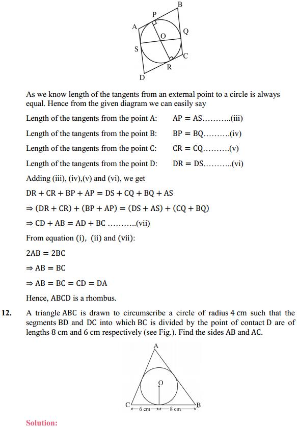 NCERT Solutions for Class 10 Maths Chapter 10 Circles Ex 10.2 9
