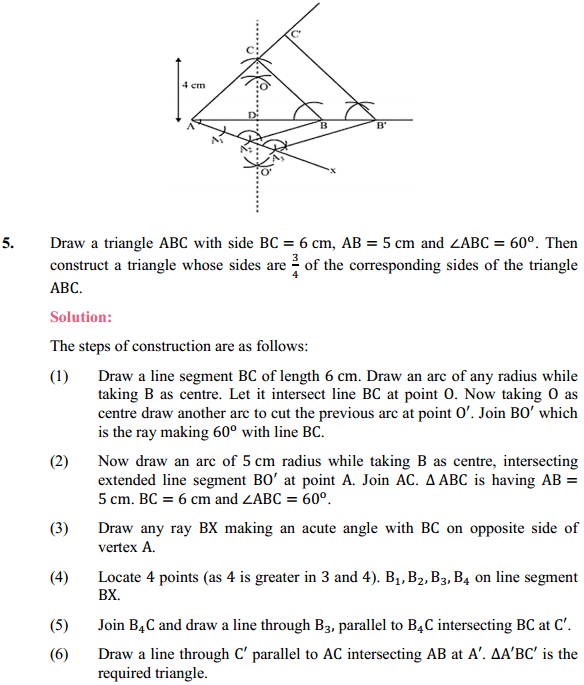 NCERT Solutions for Class 10 Maths Chapter 11 Constructions Ex 11.1 4