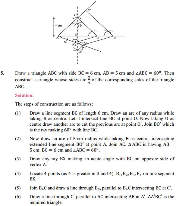 NCERT Solutions for Class 10 Maths Chapter 11 Constructions Ex 11.1 4