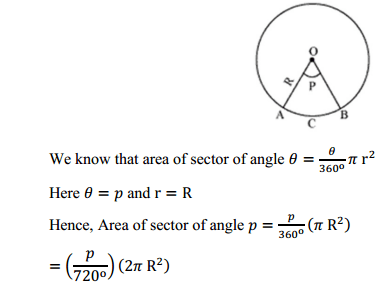 NCERT Solutions for Class 10 Maths Chapter 12 Areas Related to Circles Ex 12.2 15