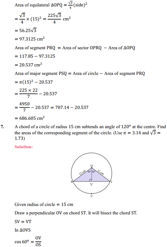 NCERT Solutions for Class 10 Maths Chapter 12 Areas Related to Circles Ex 12.2 7