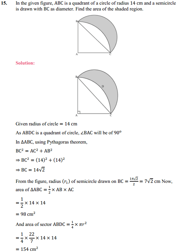 NCERT Solutions for Class 10 Maths Chapter 12 Areas Related to Circles Ex 12.3 17