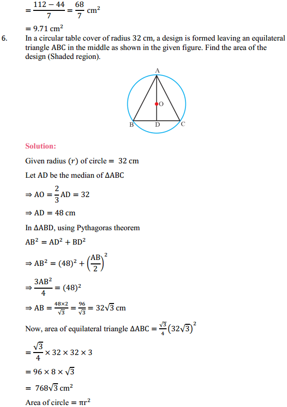 NCERT Solutions for Class 10 Maths Chapter 12 Areas Related to Circles Ex 12.3 7