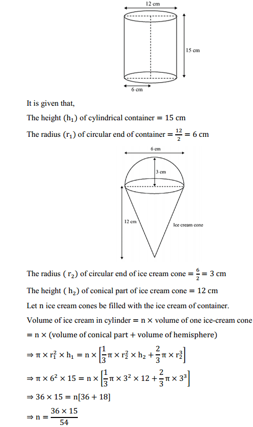 NCERT Solutions for Class 10 Maths Chapter 13 Surface Areas and Volumes Ex 13.3 5