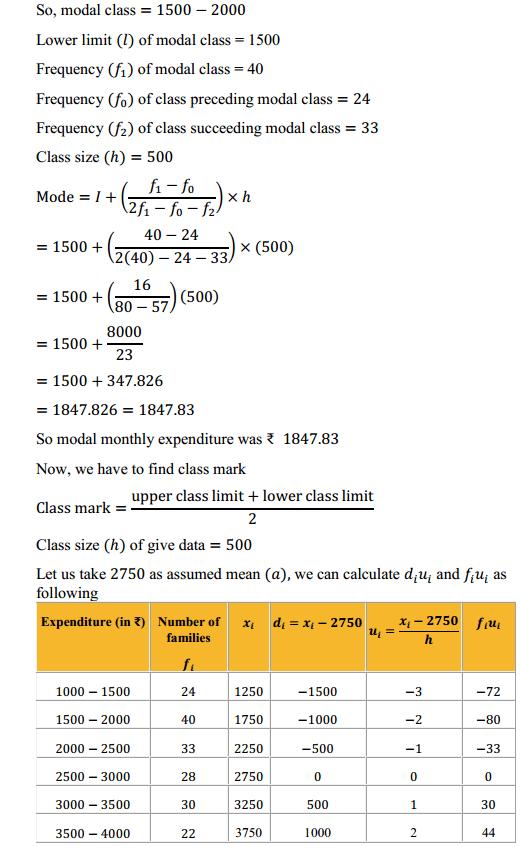 NCERT Solutions for Class 10 Maths Chapter 14 Statistics Ex 14.2 4