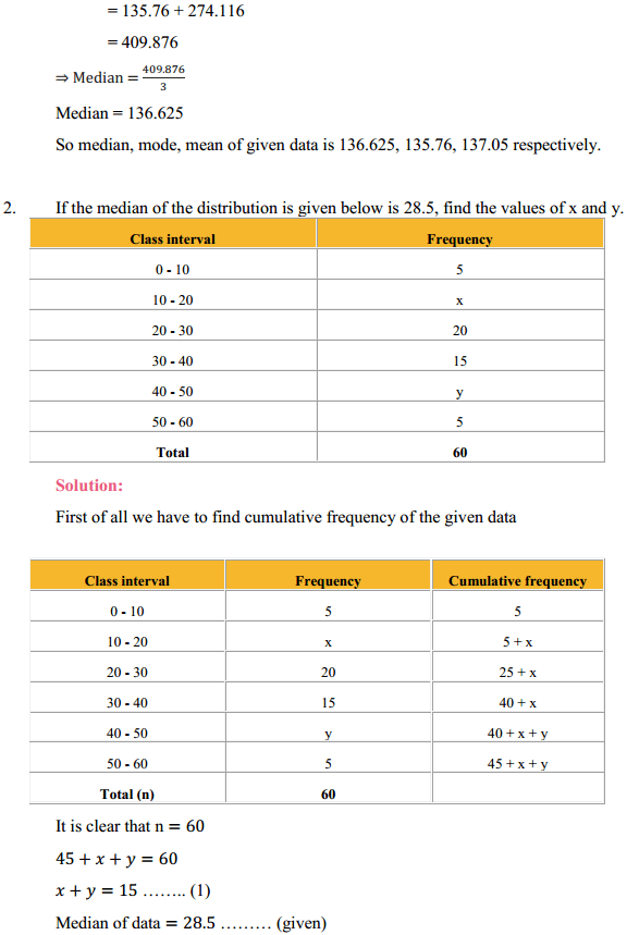 NCERT Solutions for Class 10 Maths Chapter 14 Statistics Ex 14.3 3