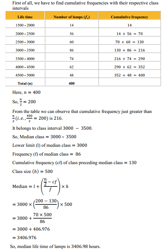 NCERT Solutions for Class 10 Maths Chapter 14 Statistics Ex 14.3 8