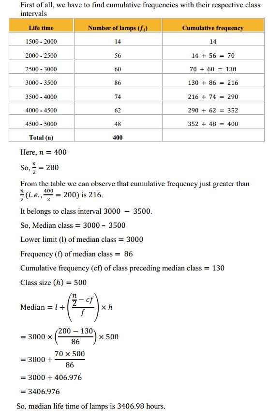 NCERT Solutions for Class 10 Maths Chapter 14 Statistics Ex 14.3 8