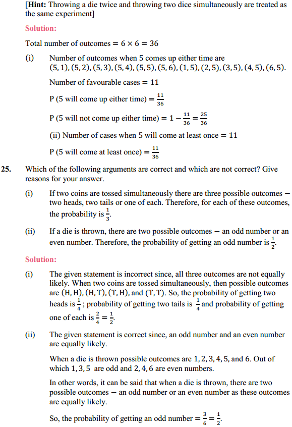 NCERT Solutions for Class 10 Maths Chapter 15 Probability Ex 15.1 12