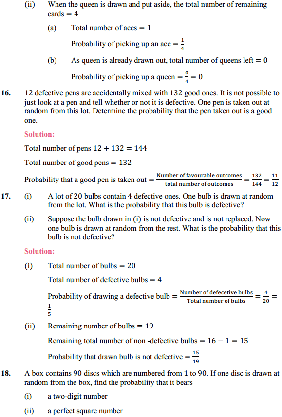 NCERT Solutions for Class 10 Maths Chapter 15 Probability Ex 15.1 8