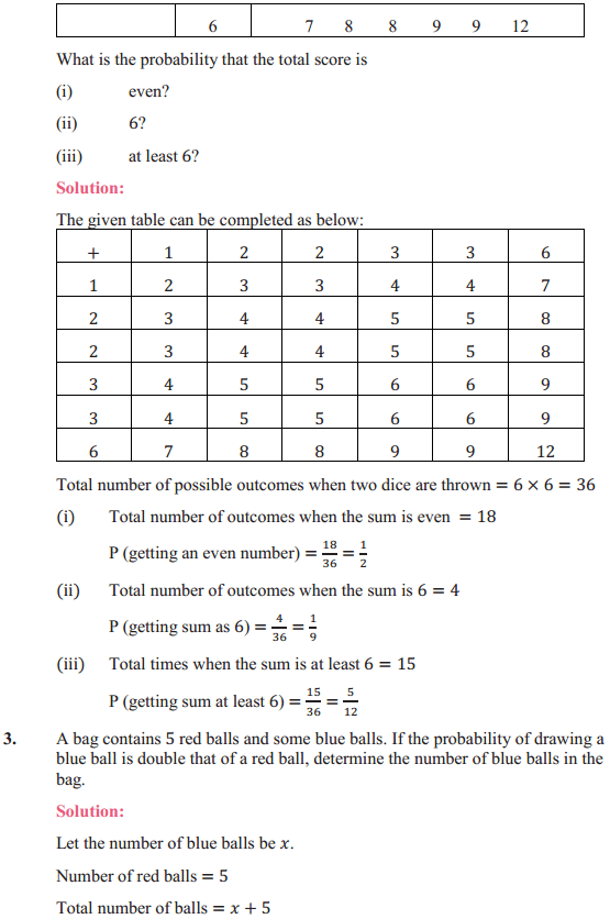 NCERT Solutions for Class 10 Maths Chapter 15 Probability Ex 15.2 2