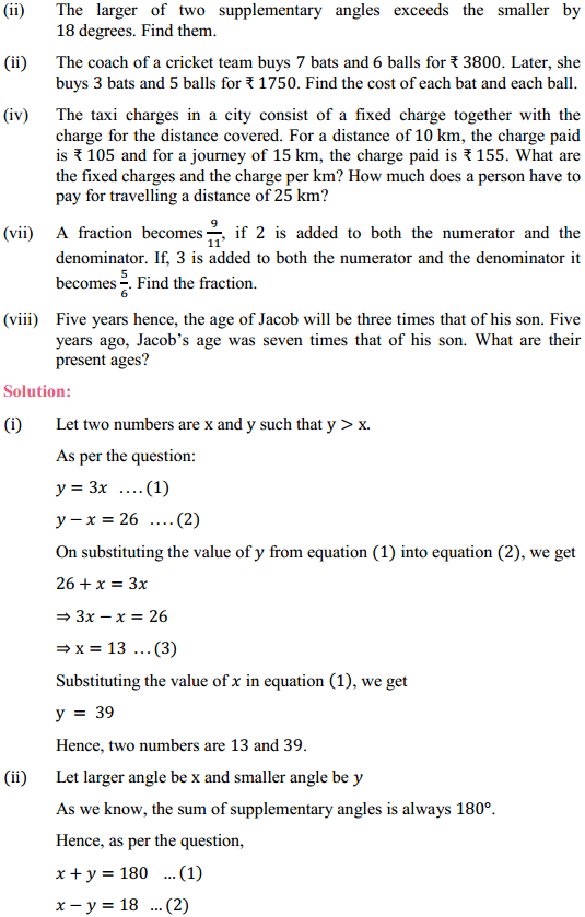NCERT Solutions for Class 10 Maths Chapter 3 Pair of Linear Equations in Two Variables Ex 3.3 6