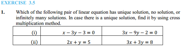 NCERT Solutions for Class 10 Maths Chapter 3 Pair of Linear Equations in Two Variables Ex 3.5 1